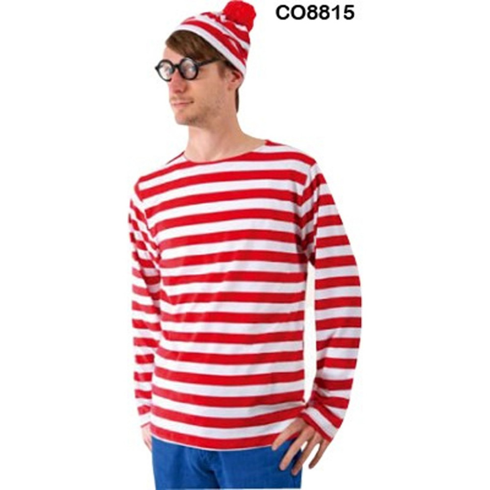 Where's Wally Waldo Mens Costume