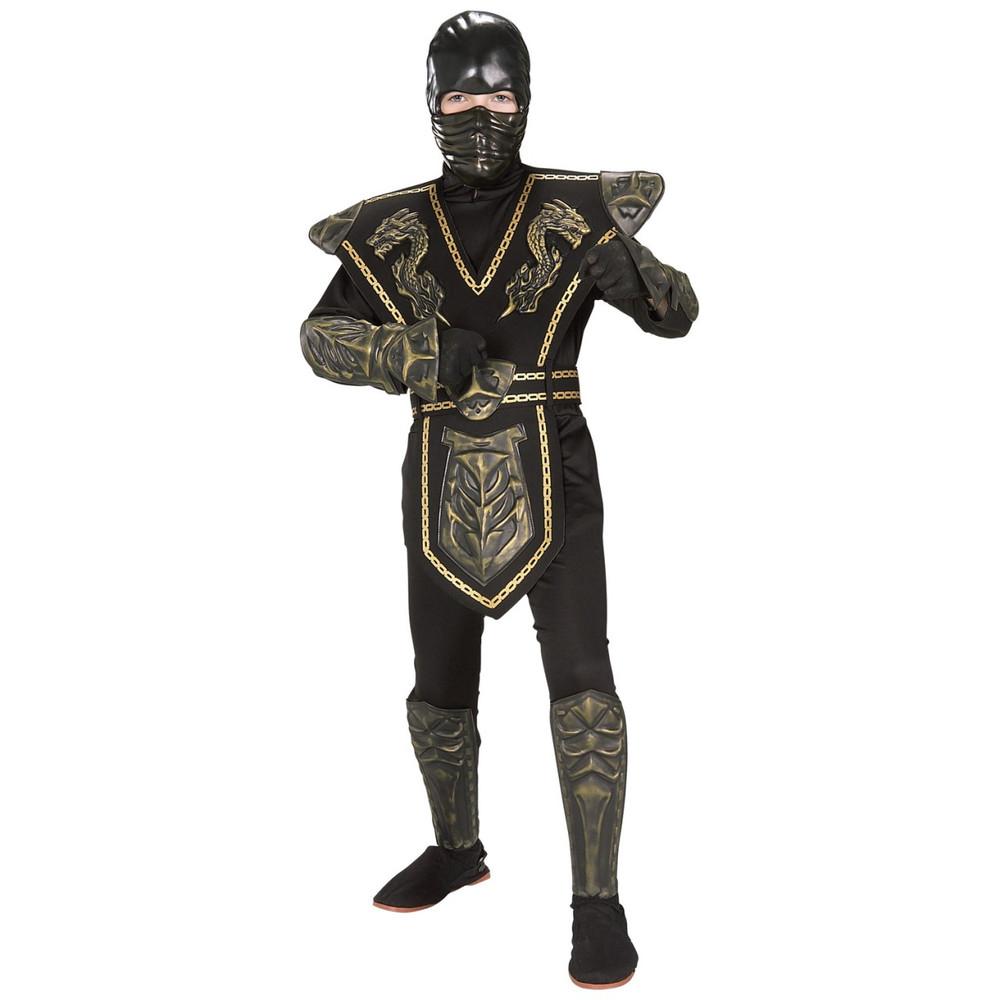 Ninja Gold Dragon Warrior Child Costume