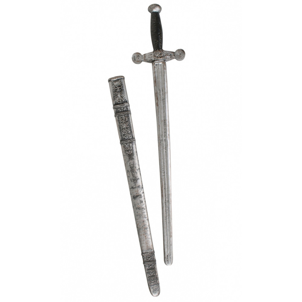 Knight Sword with Sheath - wood & stone look
