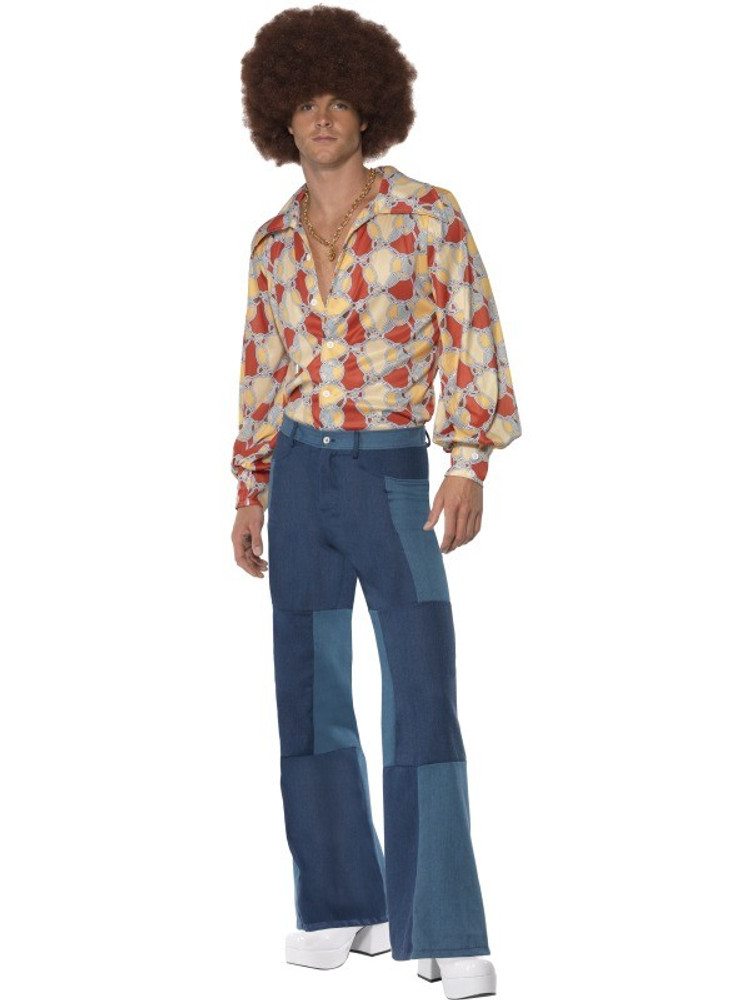 1970s Disco Patchwork Mens Costume