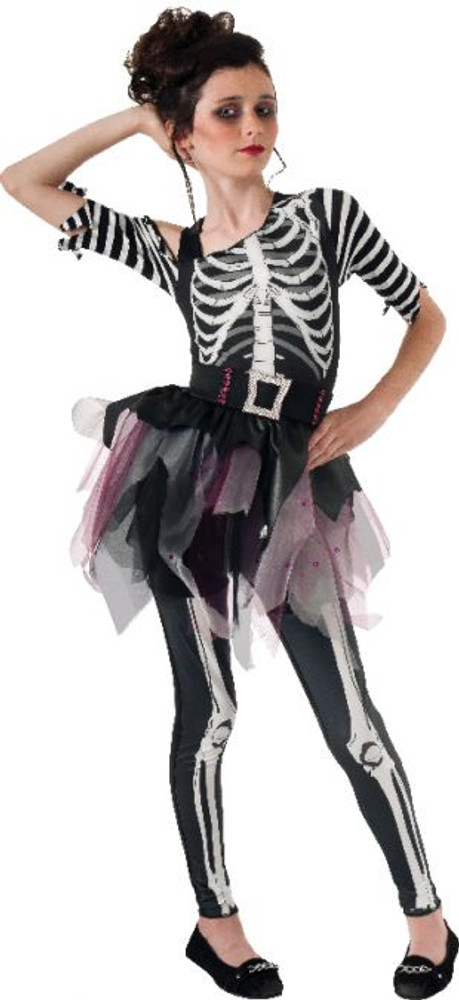 Skeleton Skellee Ballerina Girls Costume