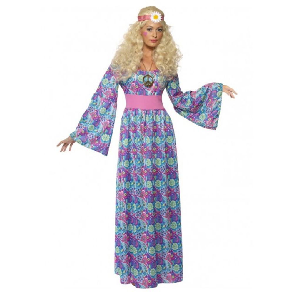 1960s Flower Child Hippy Womens Costume