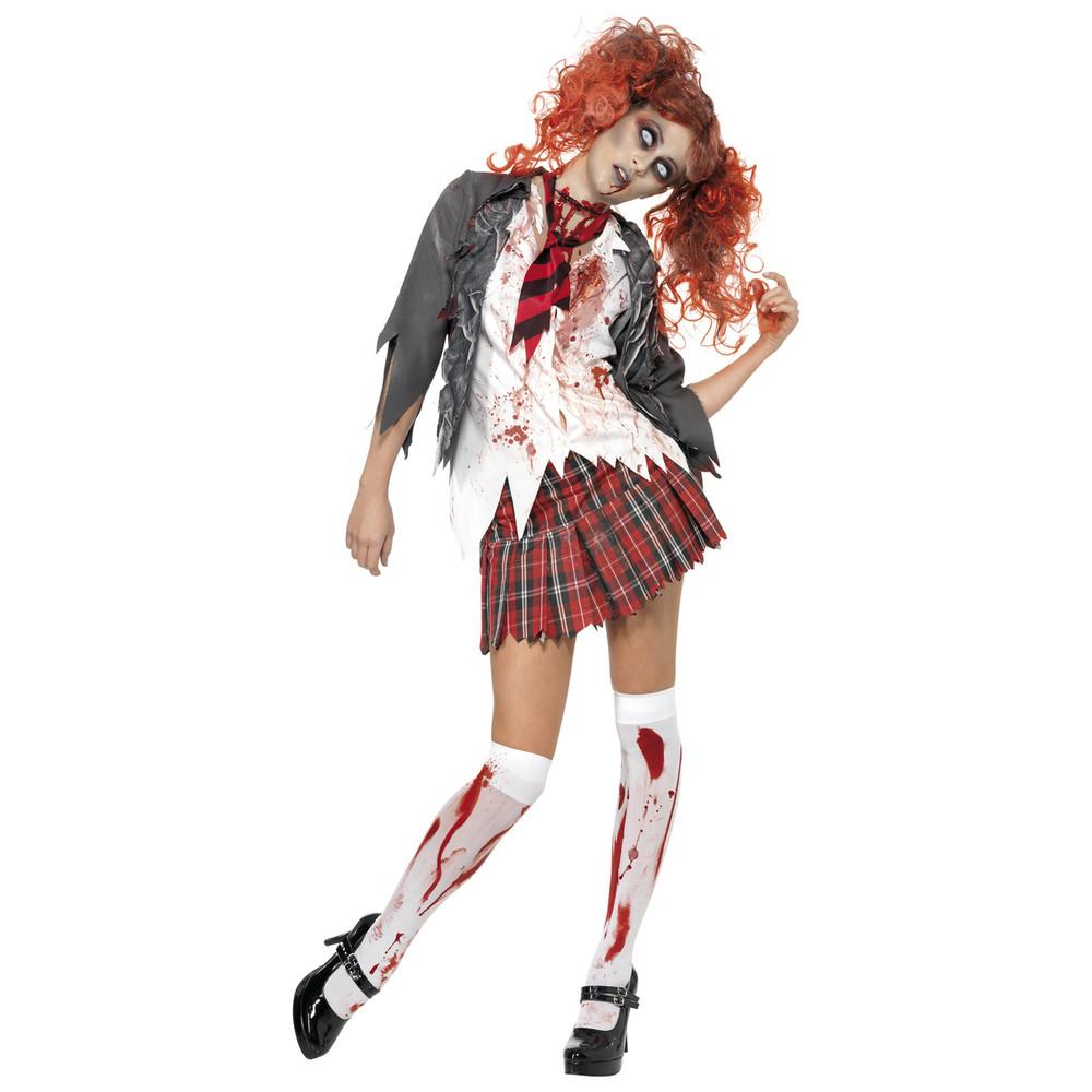 High School Horror Zombie Schoolgirl Womens Costume