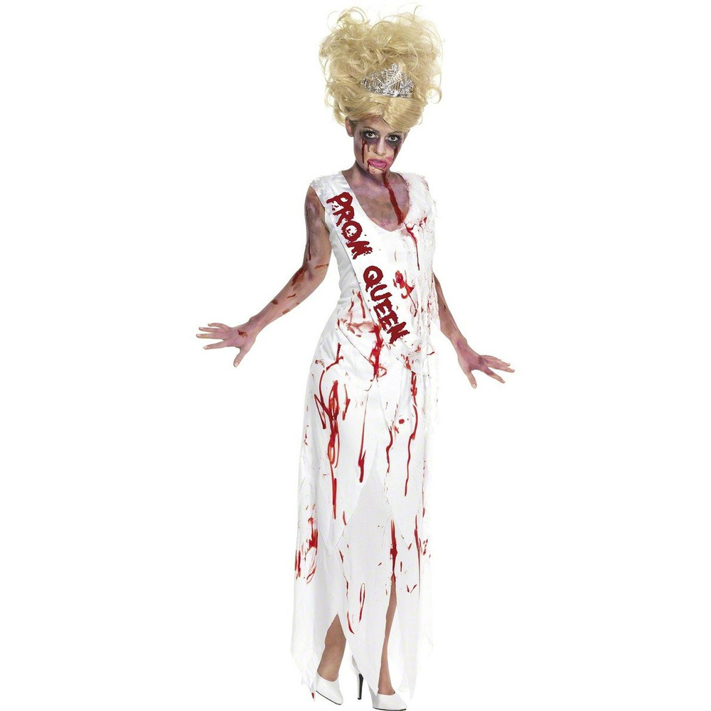 High School Horror Zombie Prom Queen Womens Costume