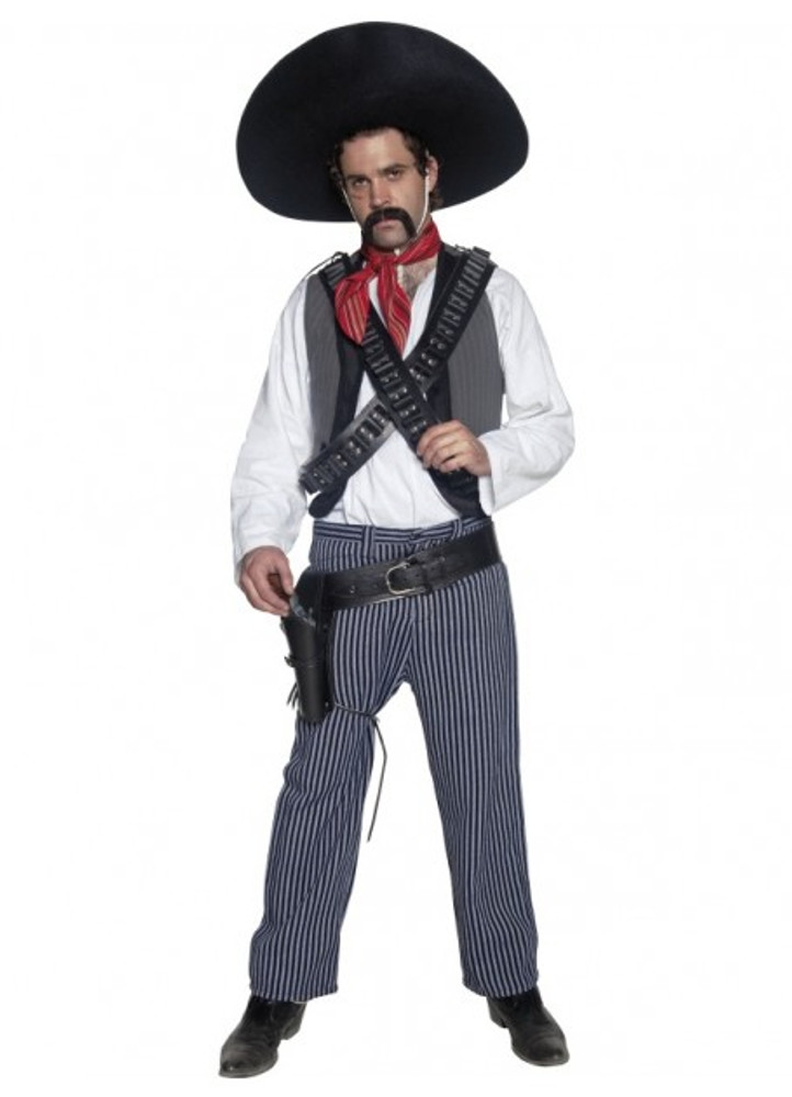 Western Authentic Mexican Bandit Men's Costume
