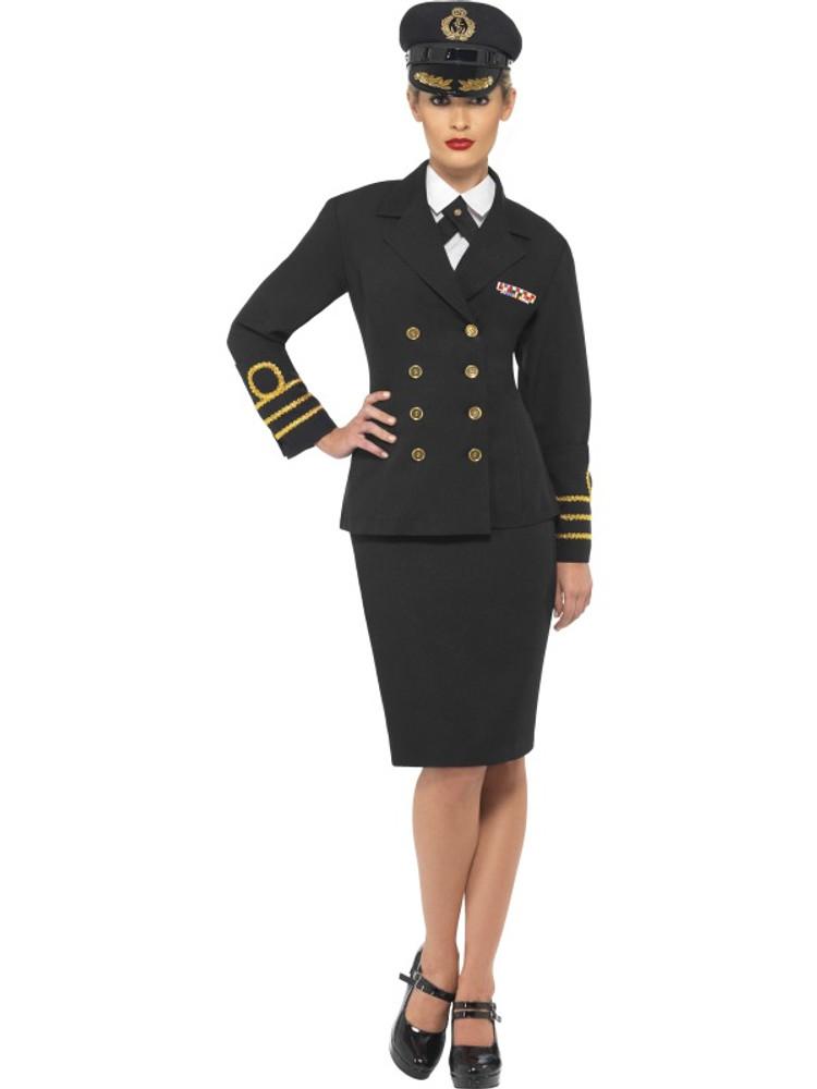 Navy Officer Women's Costume