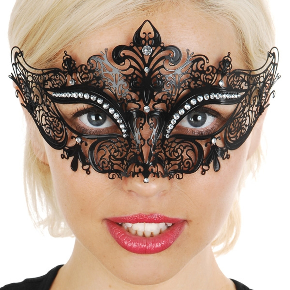 Provence Metal Eye Mask with Clear Jewels