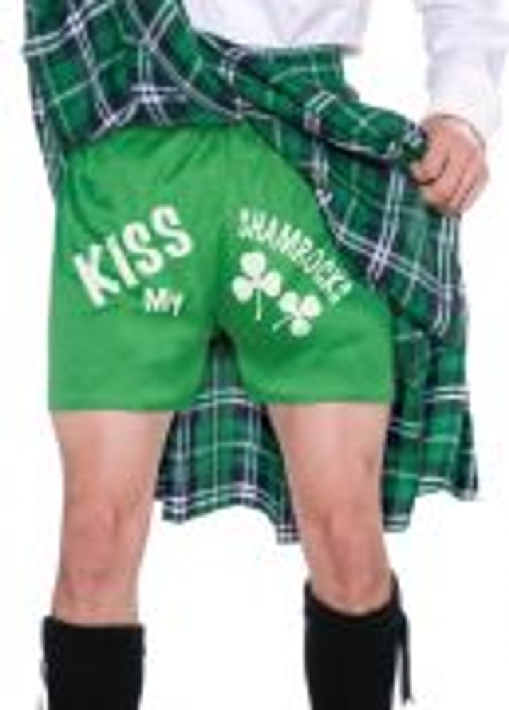 St Patrick's Kilt and Shorts Mens Costume
