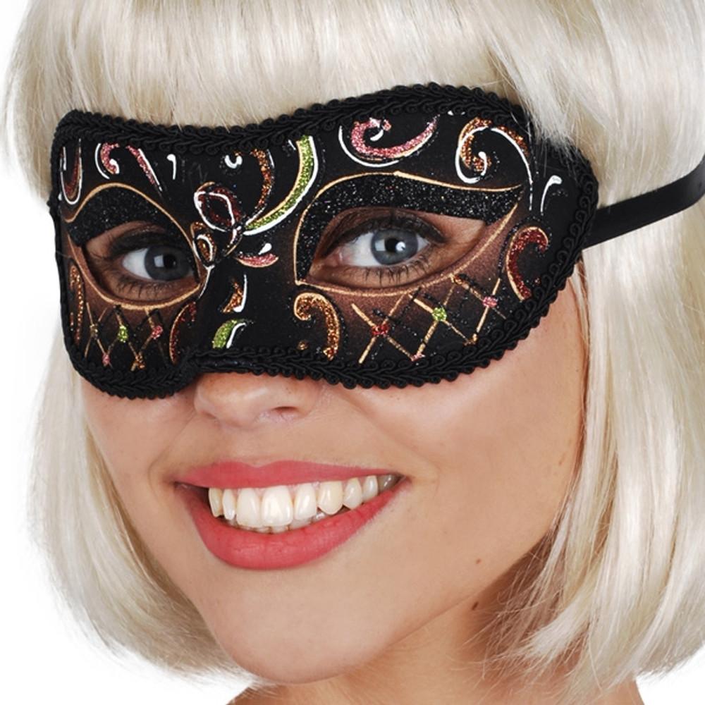 Casablanca Brown & Green Eye Mask