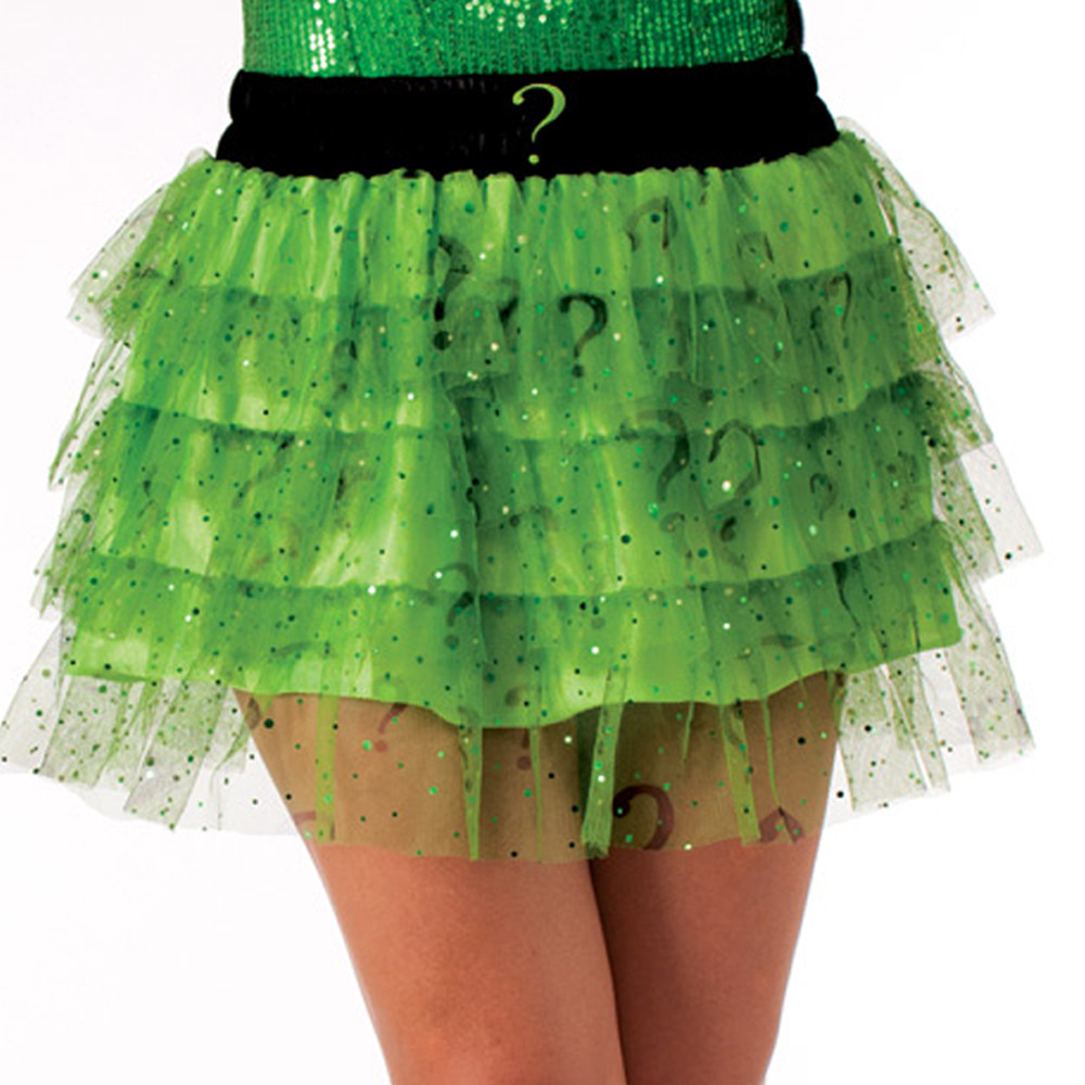Riddler Skirt Womens Costume