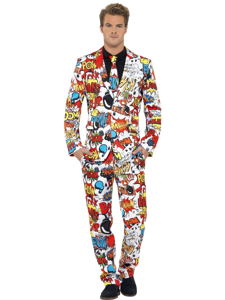 Comic Strip Men's Suit Costume