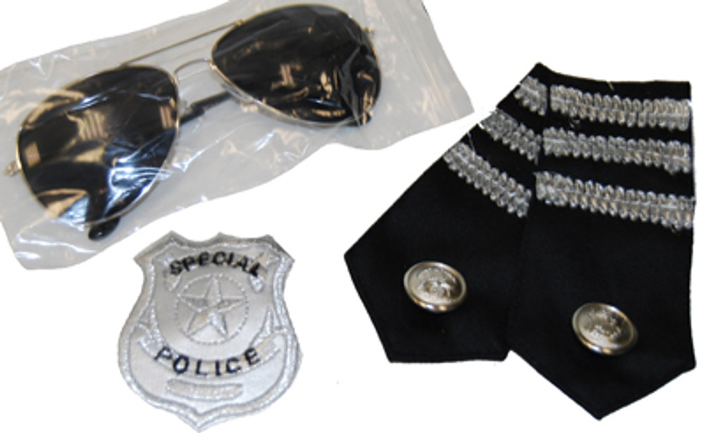 Police Kit - Glasses, Epelets and Badge