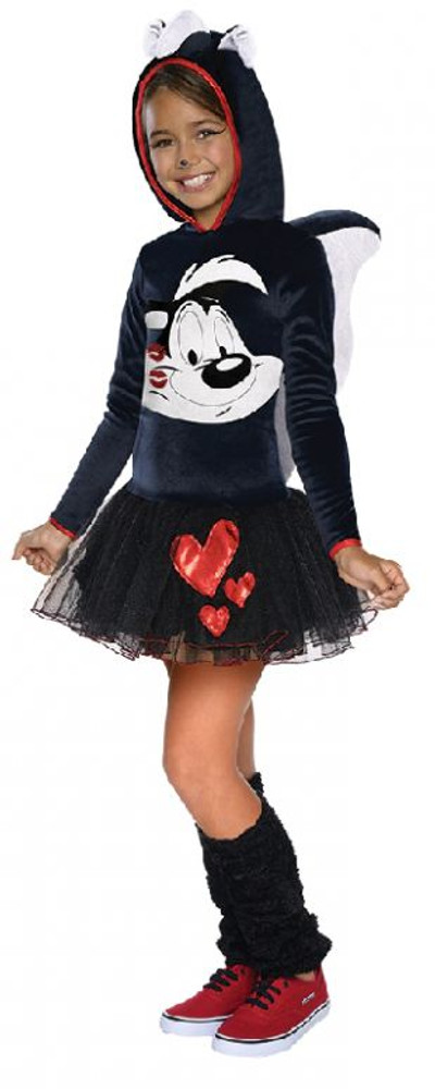 Looney Tunes - Pepe Le Pew Hooded Girls Costume