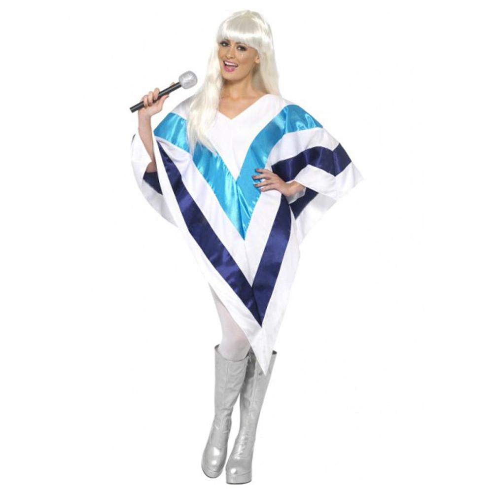 1970s ABBA Super Trooper Poncho Cape Womens Costume