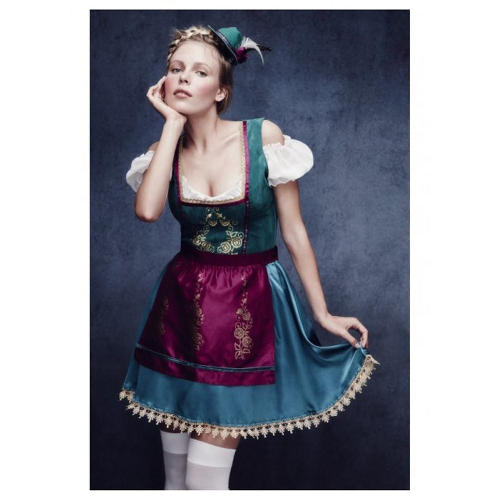 Oktoberfest Beer Girl Dirndl Deluxe Womens Costume