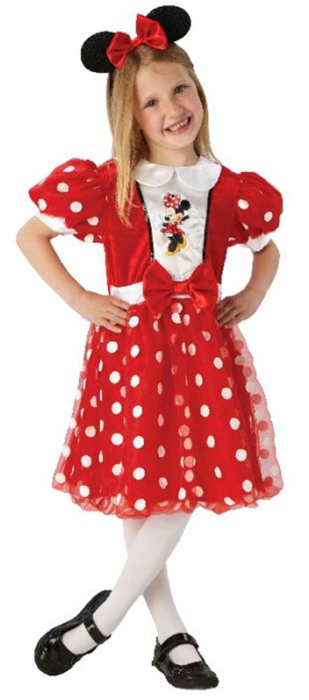 Minnie Mouse Red Glitz Girls Costumne 4-6yrs