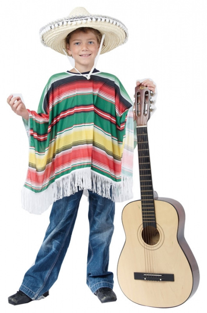 Mexican Poncho Childs Costume