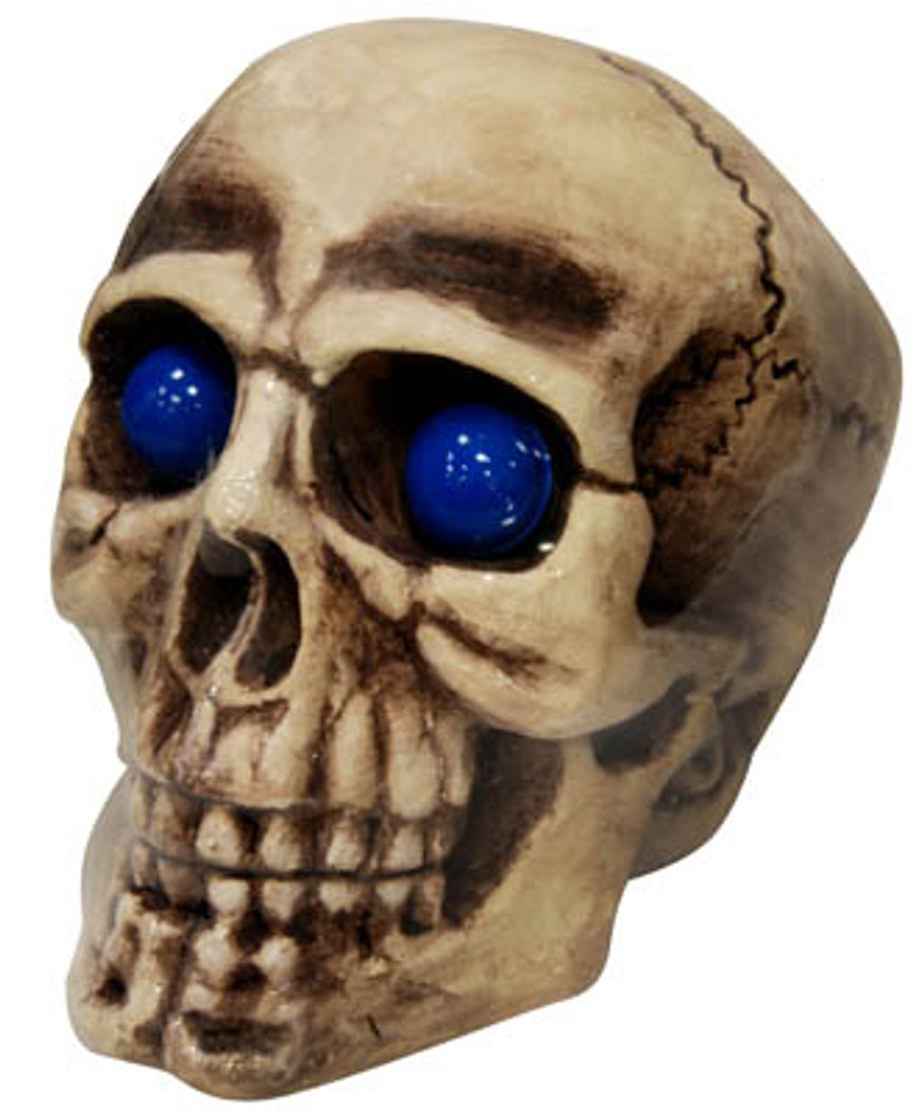 Giant Skull with Blue Flashing Eyes