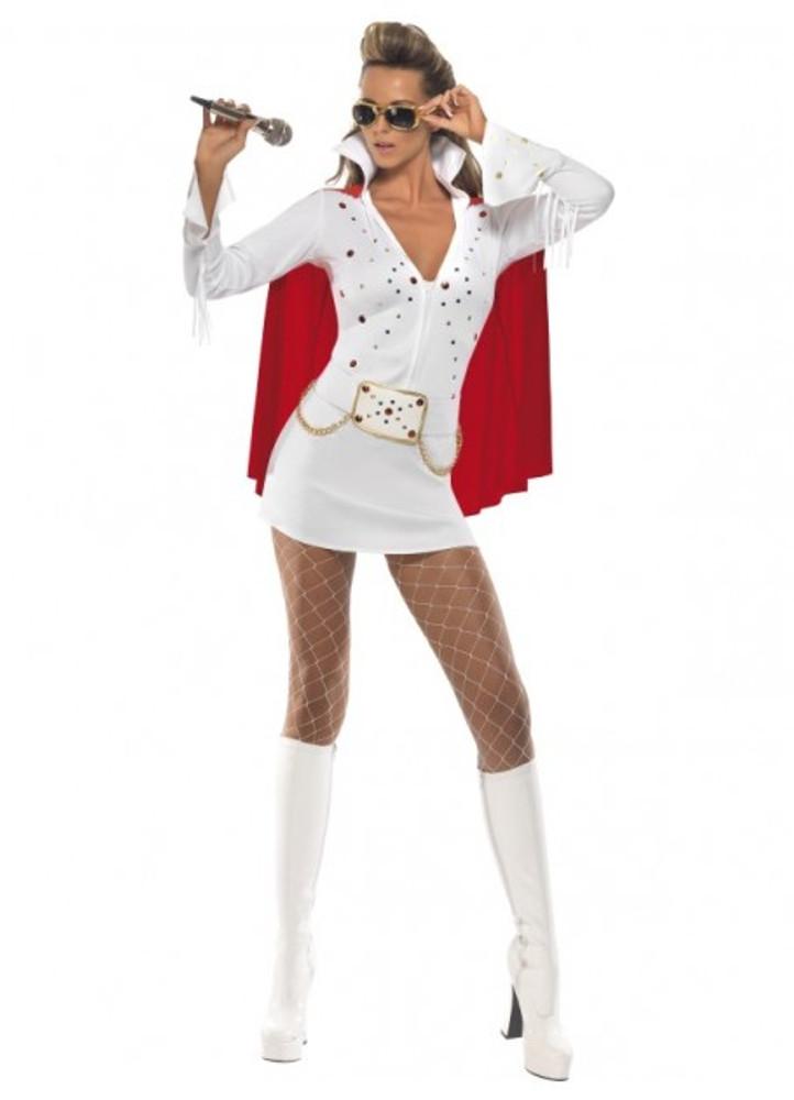 Elvis Viva Las Vegas Womens Costume
