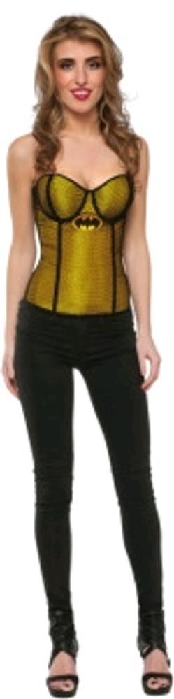 Batgirl Fishnet Overlay Corset  Womens Costume