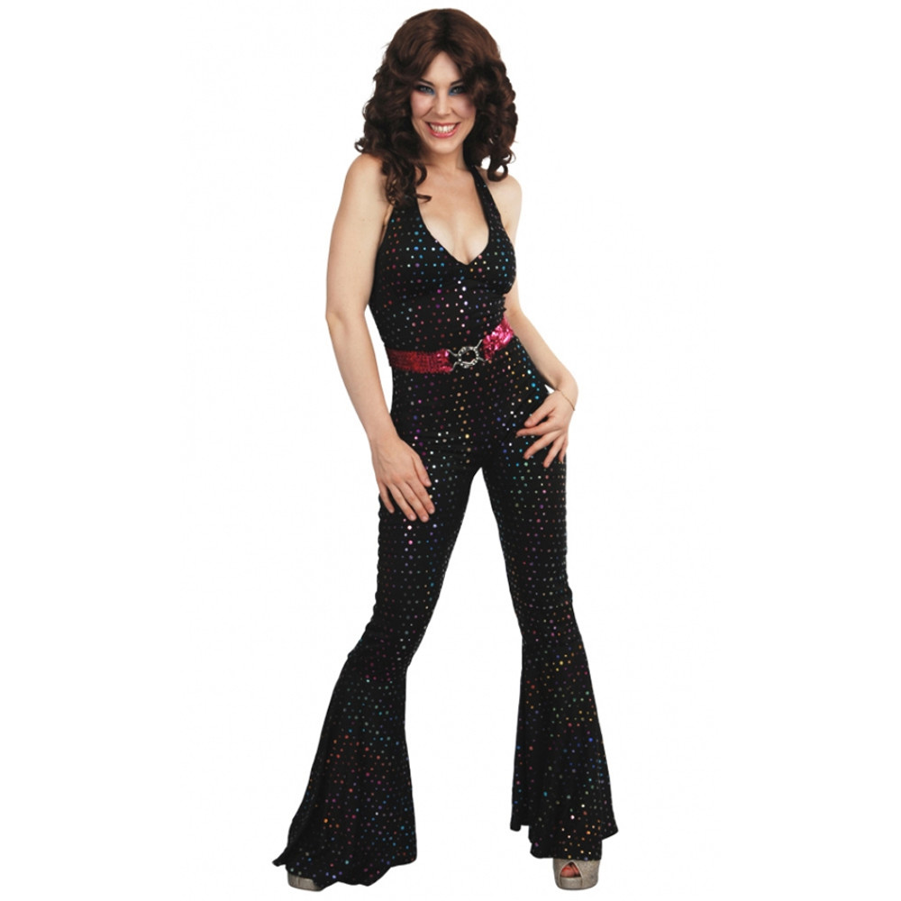 1970s Disco Jumpsuit Womens Costume