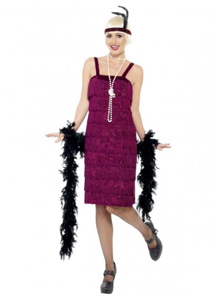 Flapper Jazz Burgundy Womens Costume