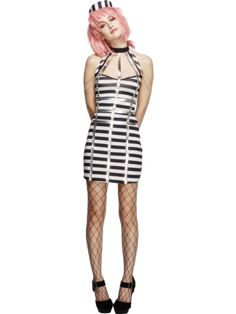Prisoner Criminal Womens Costume