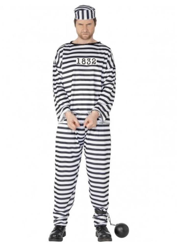 Prisoner Convict Mens Costume
