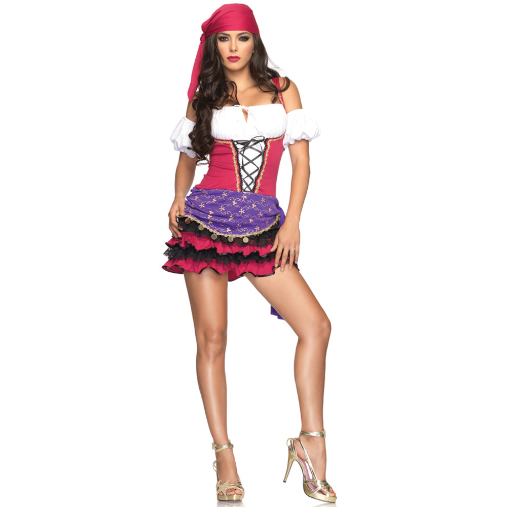 Gypsy Crystal Ball Beauty Womens Costume