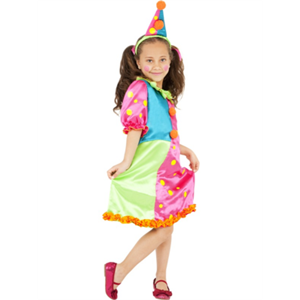 Clown Miss Brighty Balloons Kids Costume