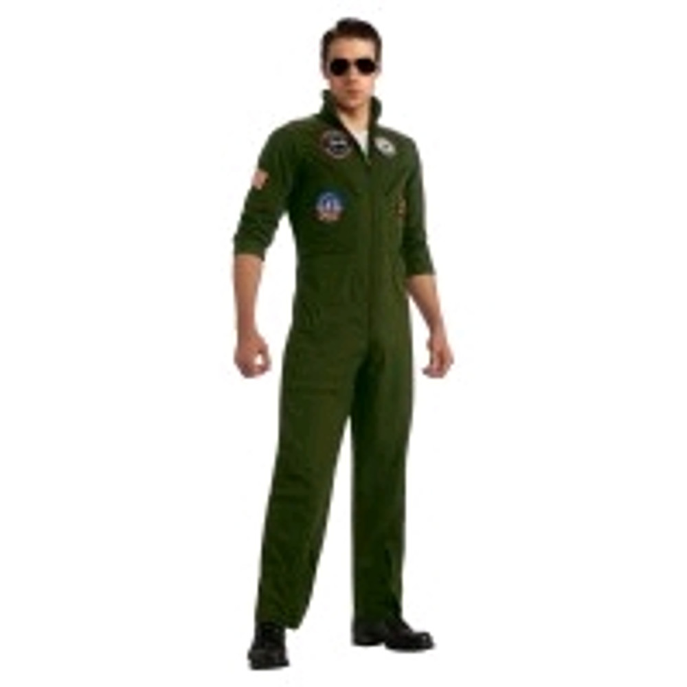 Full Top Gun Mens Suit Halloween Book Week Aviator
