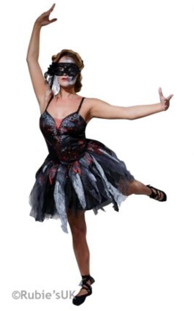 Halloween Dead Ballerina Womens Costume
