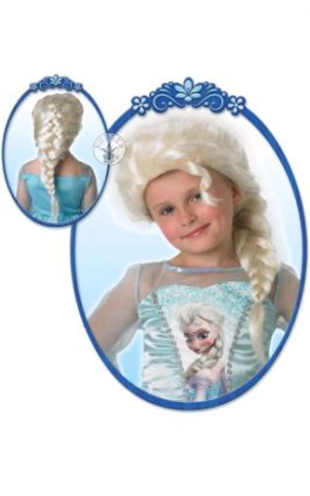 Elsa Frozen White Plait Wig Child