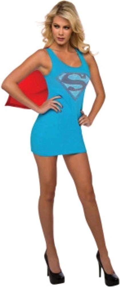 Supergirl Rhinestone Tank Dress