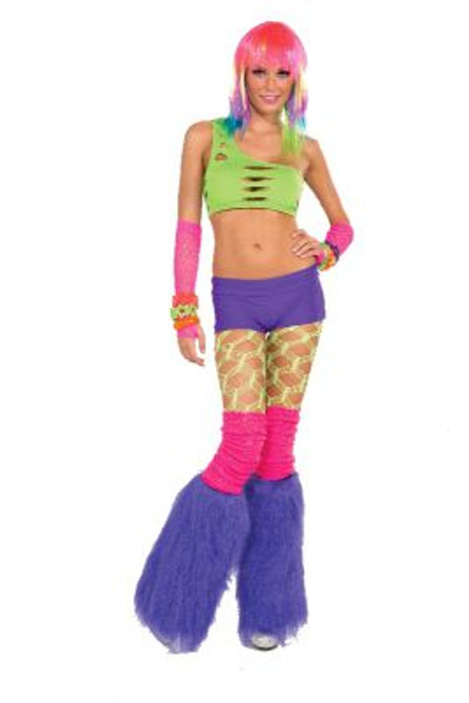 Purple Fur Leg Warmers