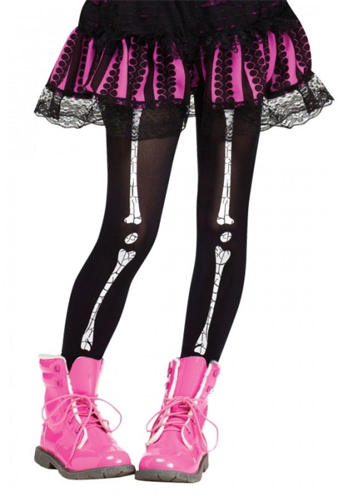 Skeleton Crackle Bones Kids Leggings