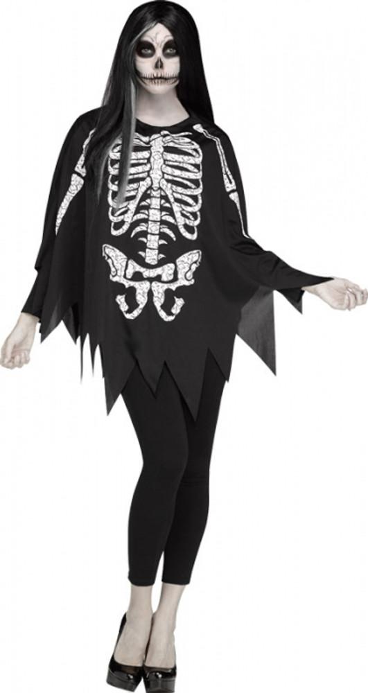 Skeleton Adult Poncho