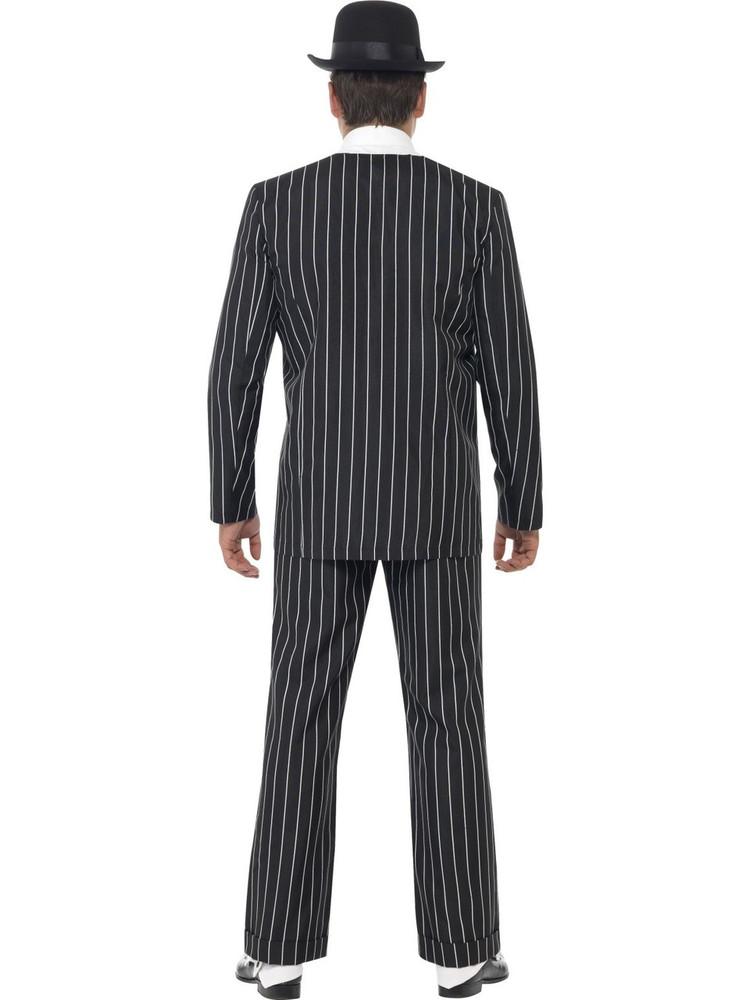 1920s Mens Costume - Vintage Gangster Pinstripe Suit