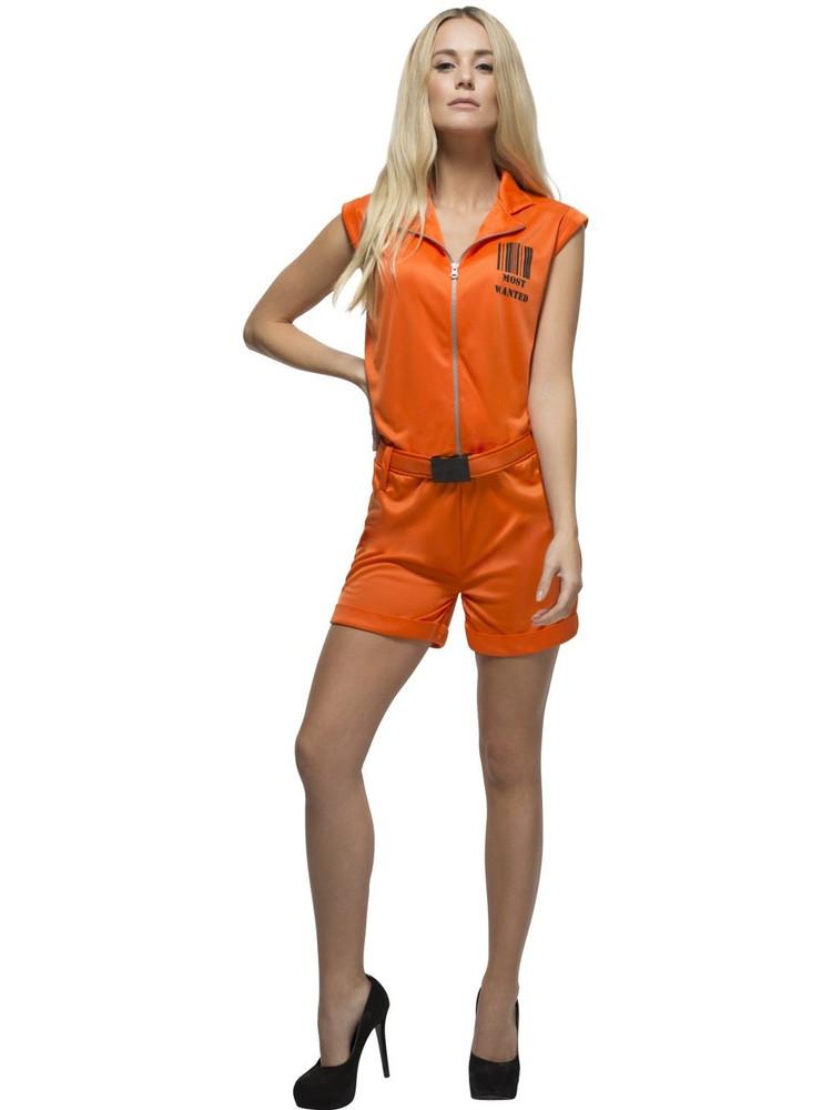 Prisoner Convict Queen Womens Costume