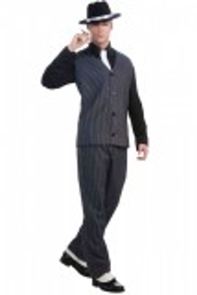 1920's Striped Gangster Mens Costume