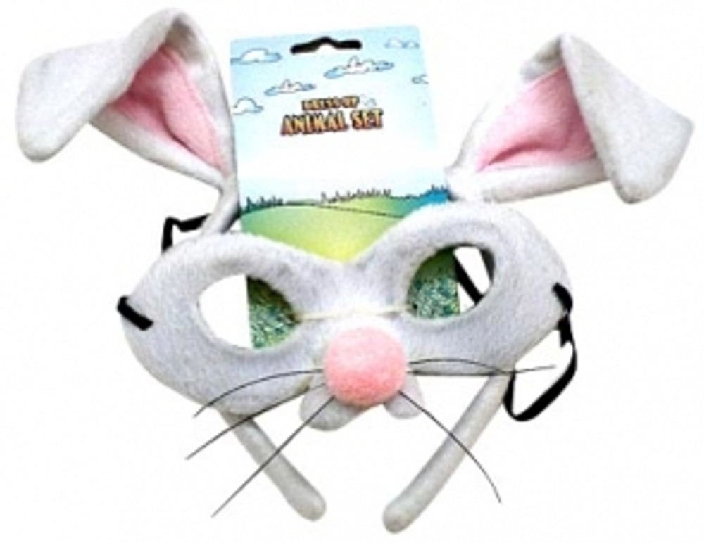 Rabbit Animal Headband & Mask Set