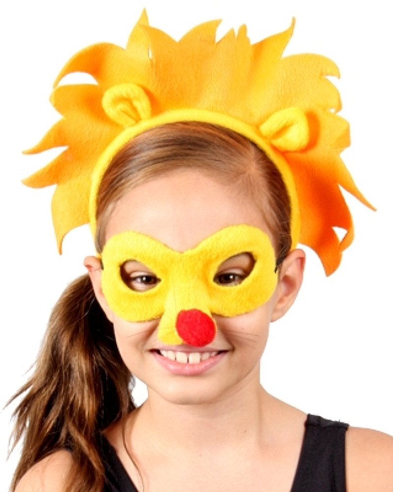 Lion Animal Headband & Mask Set