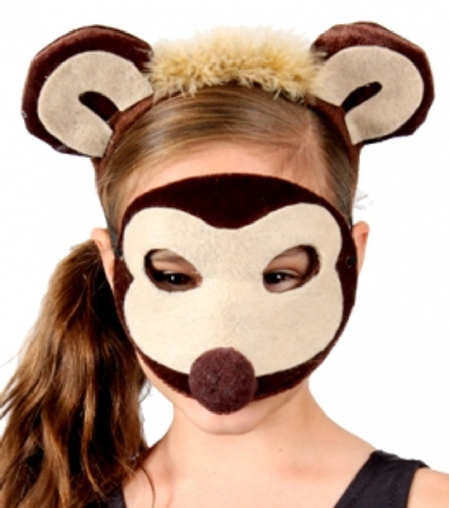 Monkey Animal Headband & Mask Set