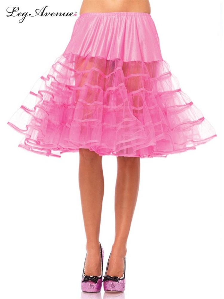 Petticoat Mid Length Neon Pink