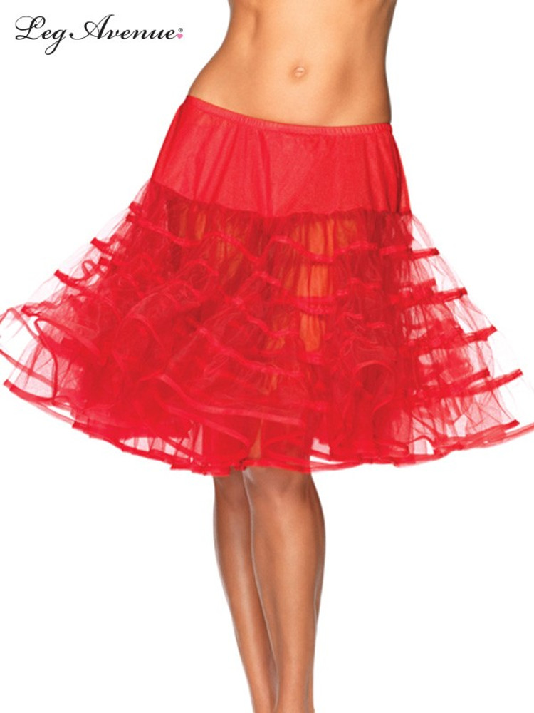 Petticoat Mid Length Red