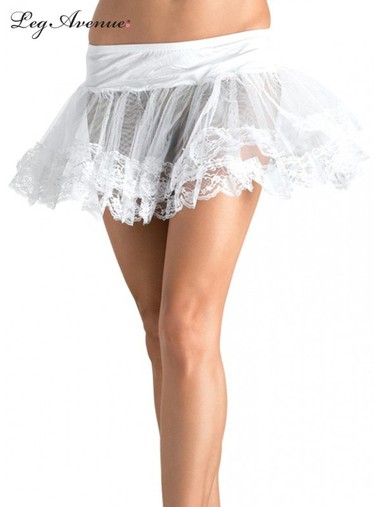 Petticoat Lace Trimmed White
