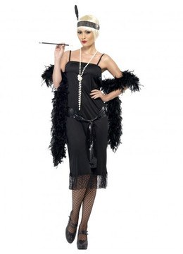 1920's Black Flapper Womens Costume