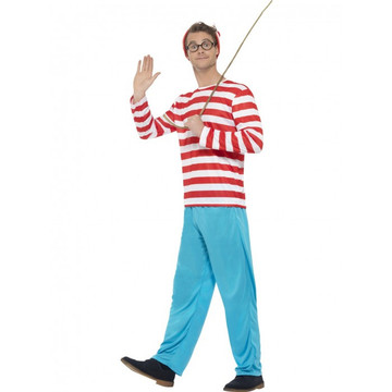 Where's Wally Mens Costume