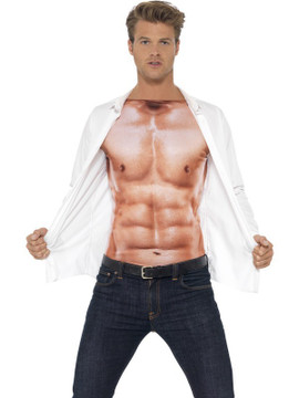 Muscle Top Realistic Mens Costume