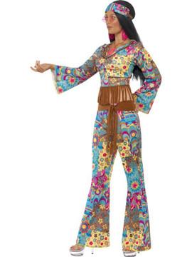 1960s 70s Hippy Flower Power Womens Costume